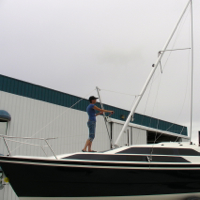 Raising the Mast on the Tattoo 26